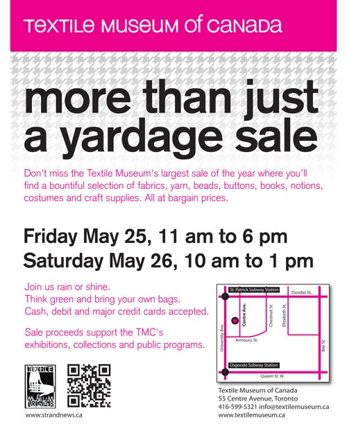 More Than Just a Yardage Sale 2012